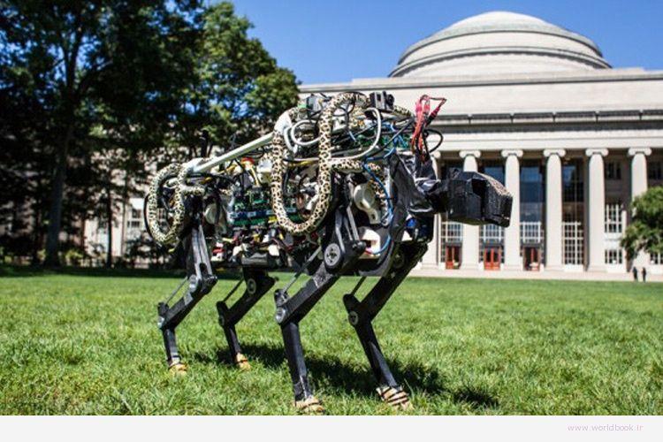 تصویر از روبات چیتای دانشگاه MIT بدون کابلهای نگهدارنده از روی موانع میپرد + ویدئو