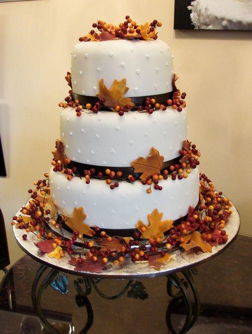 تصویر از 15 طرح  شگفت انگیز کیک عروسی مدل پاییز