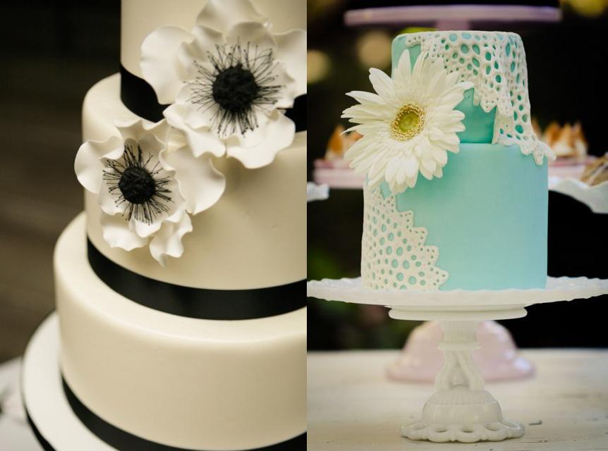تصویر از مدلهای جدید کیک عروسی با طرح گل 2015