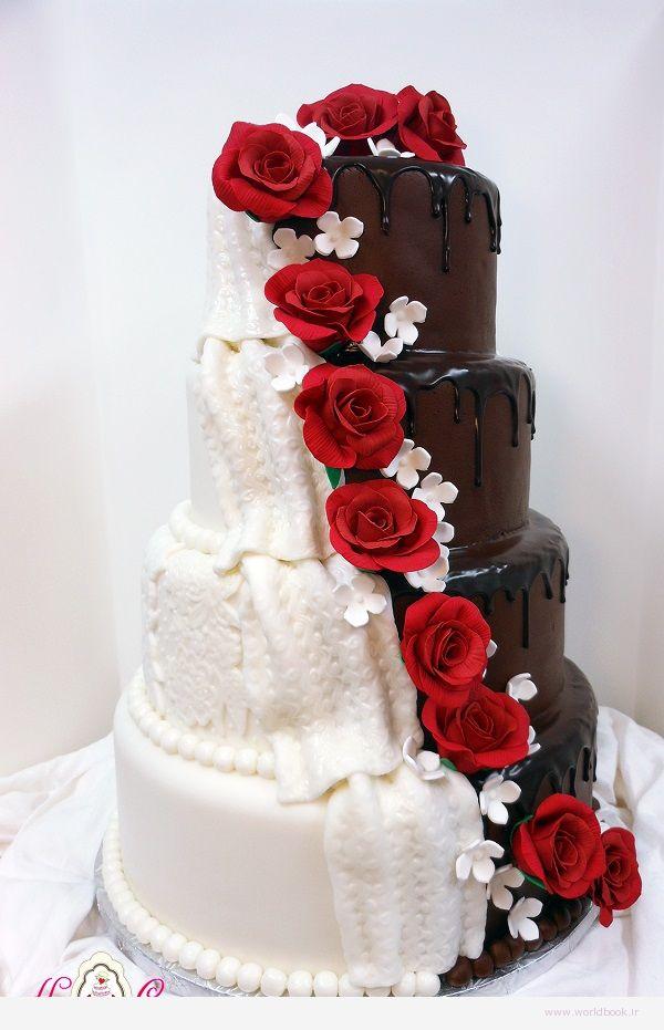 تصویر از مدل طرحهای کیک عروسی 2015