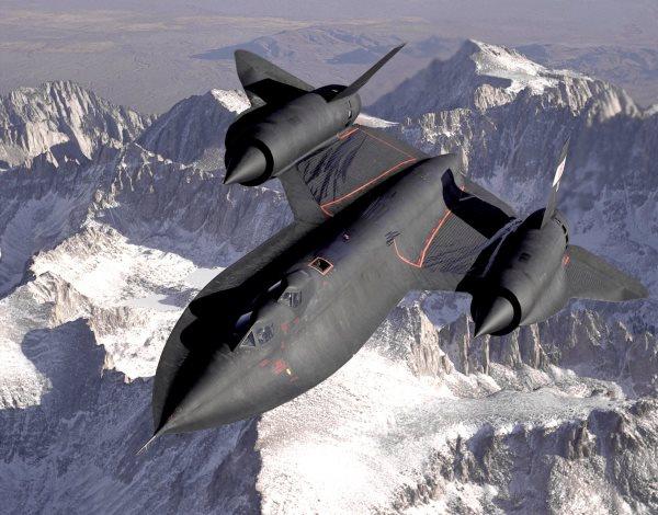 تصویر از سریع ترین هواپیمای جهان  SR-71